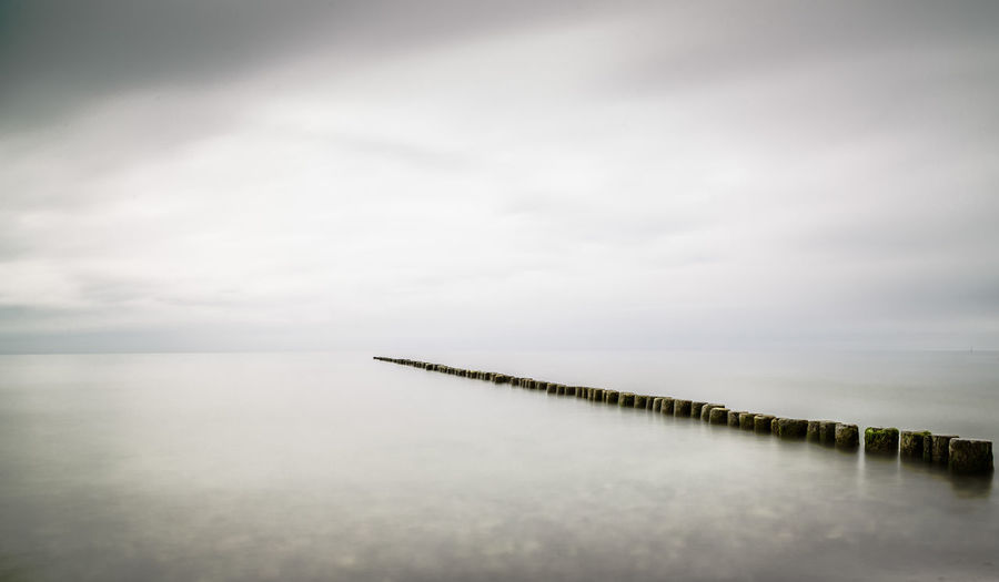 Calm Horizon Over Water Long Exposure No People Ostseeküste Sea Tranquil Scene Tranquility Water