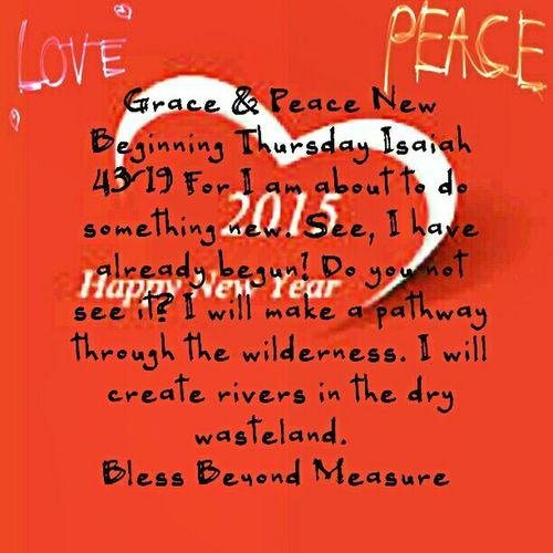 Grace & Peace New Beginnings Thursday