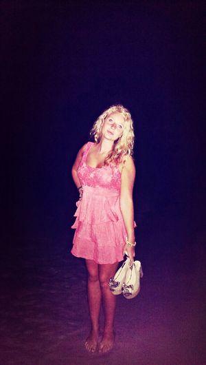 Summer Night Lights Sea And Sky Blonde