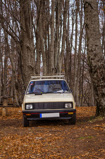 Exploring the little mountain town of Krushevo in Macedonia Autumn Car Change Day Forest No People Outdoors Sky Transportation Tree