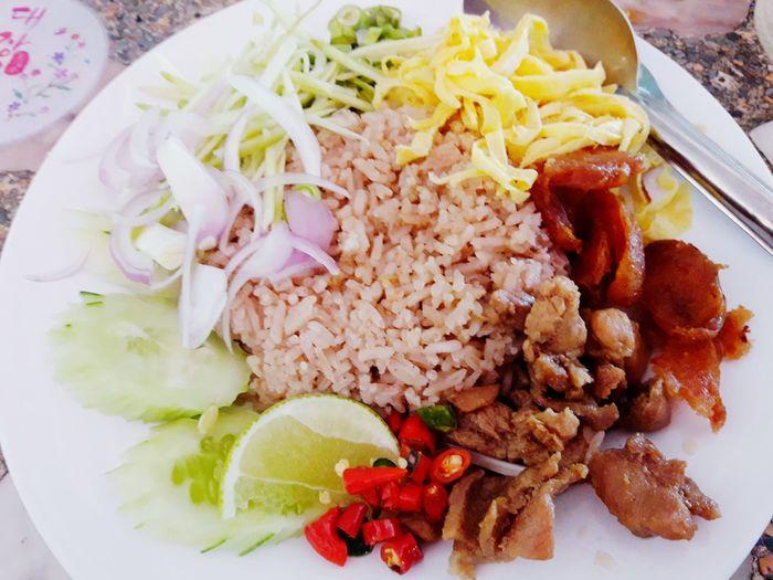 ข้าวคลุกกะปิ 😁 Food Lunch Breakfast Fried Rice Shrimp Paste Thailand