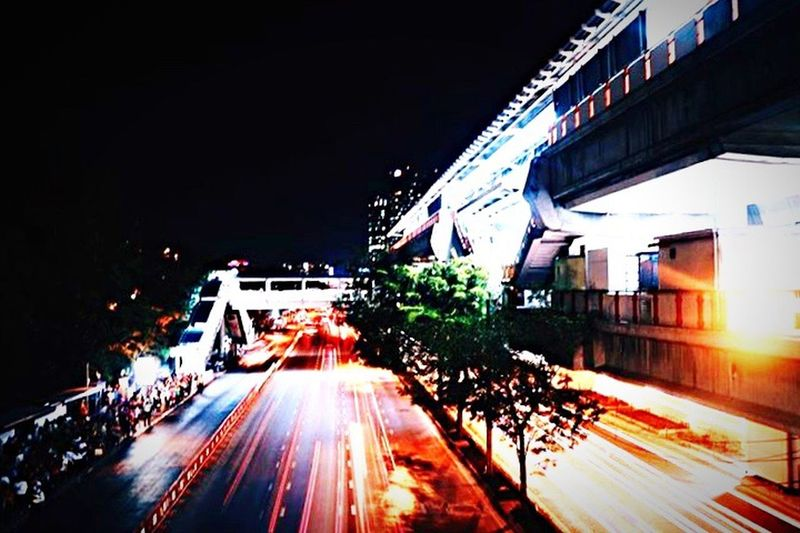 >> NIGHT LIGHT IN BKK << Night Street City City Life Outdoors Road Thailand Bangkok Travel