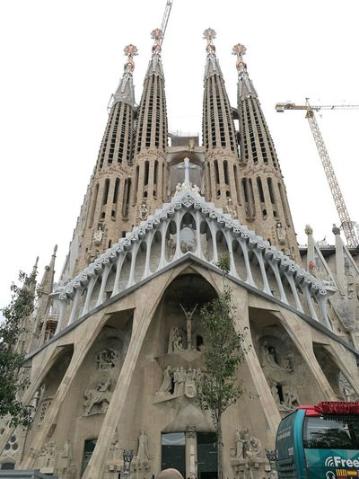 Barcelona, Spain Catedral De Barcelona Gaudì Architecture Work Sagrada Familia #NotYourCliche Love Letter City Sky Architecture Building Exterior Built Structure Spirituality Religion Christianity Catholicism Cathedral Historic Church