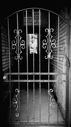 Scary Stuff  Crazy Creepy House The Gate Entryway Blackandwhite Photography