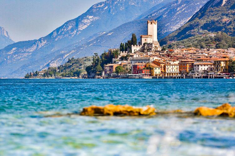 Panoramic view of italian coastline