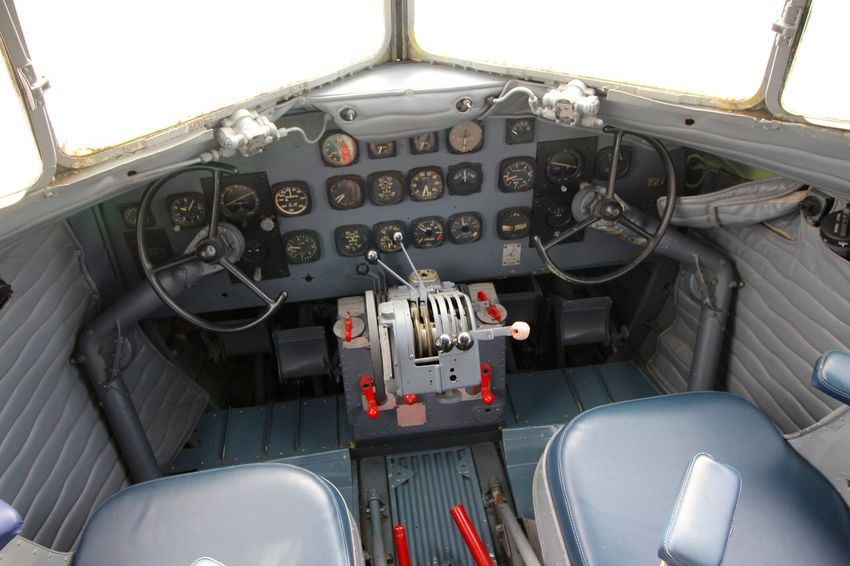 Cabin from a DC 3 aircraft, the beginnings of Brazilian commercial aviation. How it was...! Aviation Cabin Close-up DC 3 Mode Of Transport No People Technology Travel