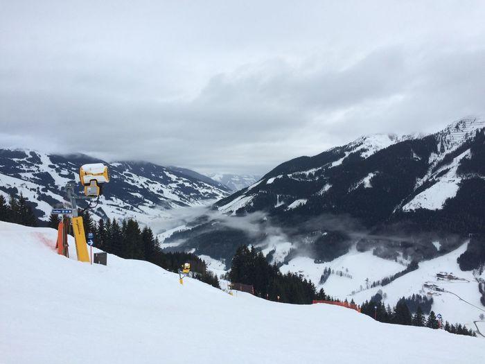 Arlberg Austria Cloud - Sky Cold Temperature Fog Landscape Mountain Nature No People Piste Snow Snowmaker Weather Winter