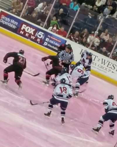 Tough loss for the home team The Places I've Been Today Gwinnett Gladiators PINK IN THE RINK Hockey Game