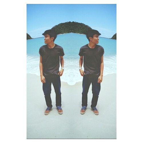 The view was so magneficent! haha Pangkor Vacation Ootd