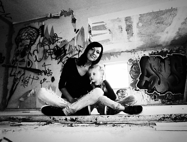 Lostplaces Mylife Blackandwhite Hello World Hanging Out That's Me Mydaughter❤️ Lost Places Graffiti Silence