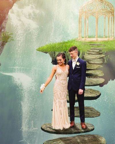 The Creative - 2019 EyeEm Awards Bridegroom Bride Wedding Dress Young Women Togetherness Water Well-dressed Happiness Men Smiling