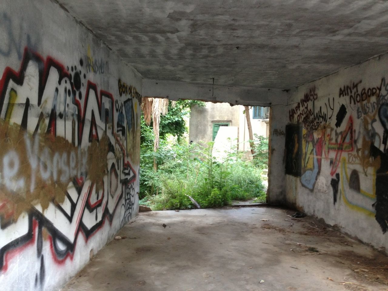 graffiti, architecture, built structure, abandoned, no people, day, indoors, building exterior, desolate