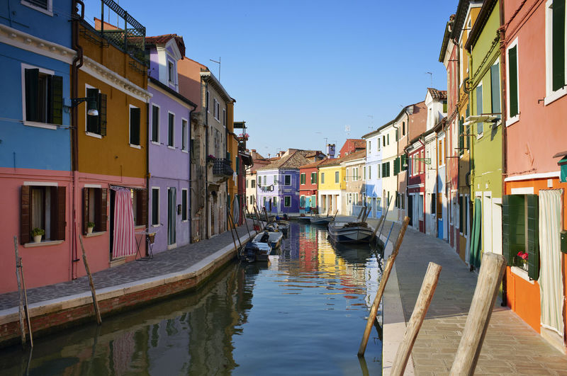 Burano is situated 7 kilometers from Venice. Burano is known for its small, brightly-painted houses.