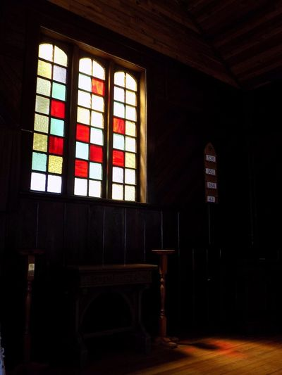 Indoors  Architecture Window No People Day Canada 150 Sunlight And Shadow Parksville Bc No Filter, No Edit, Just Photography Vancouverisland Shadow Stained Glass Window Church Window Pioneer Village