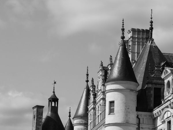 Chenonceau Chenonceaux Chenonceau Castle Loire Loire Valley Loire River France Architecture Building Exterior Built Structure Place Of Worship Religion Belief Building Sky Spirituality Low Angle View Travel Destinations Travel Nature No People Spire  Day The Past Outdoors