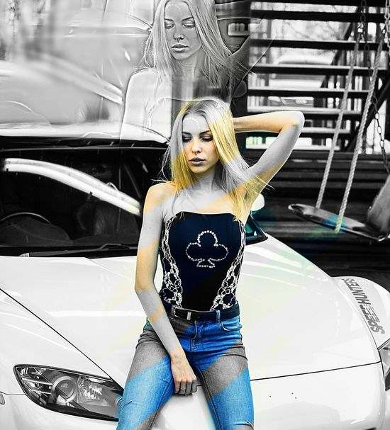 Mazda Rx8 Car White Color Only Women Day Love ♥ Beautiful Woman