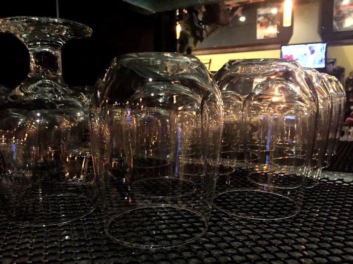 Illuminated Night No People Close-up Indoors  Horizontal Bar Tavern  Taphouse Tap House Wine Wineglass Wine Glass EyeEm Best Shots Reflection EyeEm Gallery Glasses Tavern  Idaho Mirror