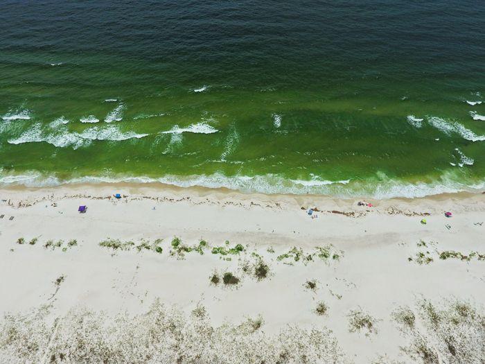 Sommergefühle Aerial View Beach Gulf Coast Surf Sand Summer