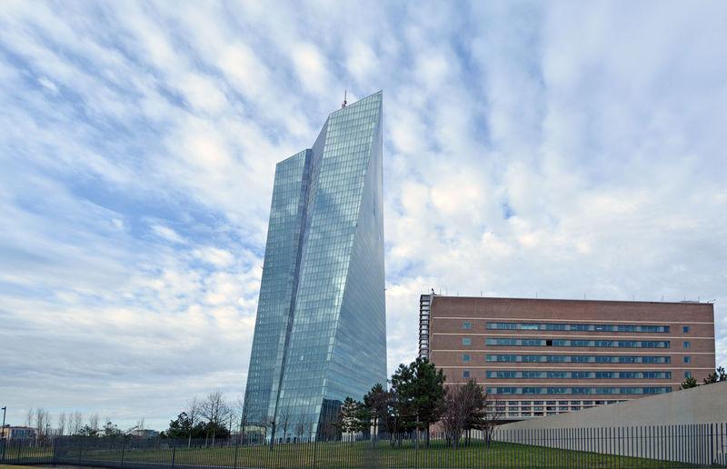 Architecture EZB Frankfurt Frankfurt Am Main Glass - Material Sky
