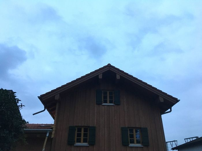House Bavarian House Bavarian City House Bavarian City Holzkirchen Blue Hour Evening House Facade