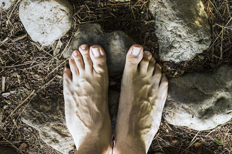 Adult barefoot Body Part Close-up Day Directly Above High Angle View Human Body Part Human Foot Human Leg Human Limb Human Toe Land Limb Low Section Nature One Person Outdoors Plant Relaxation