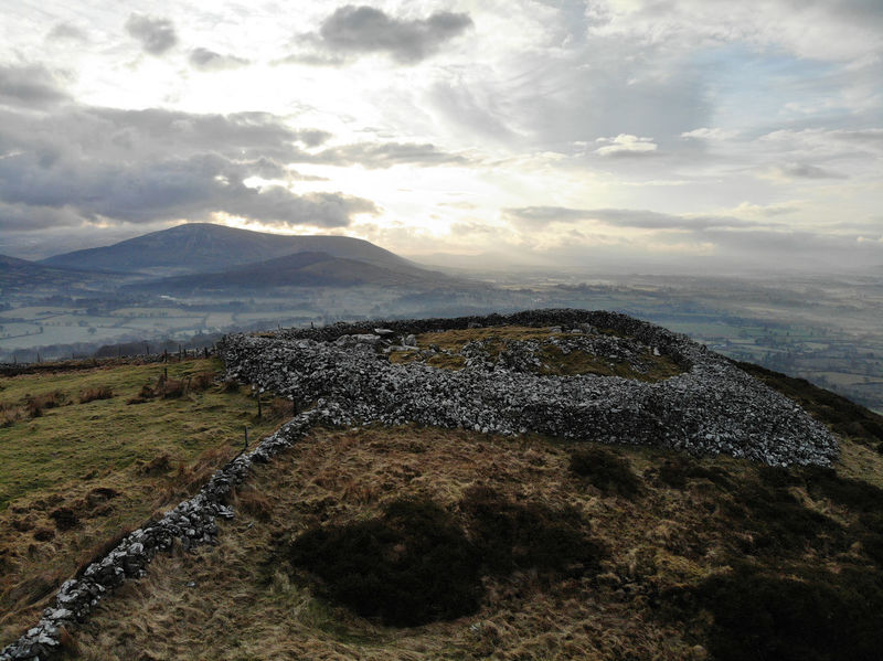 Neolithic Ireland Neolithic Stones Neolithic Baltinglass Hill Architecture Burial Place Cloud - Sky Early Morning Hilltop Hilltop View Landscape Mountain Mountain Range Outdoors Sky