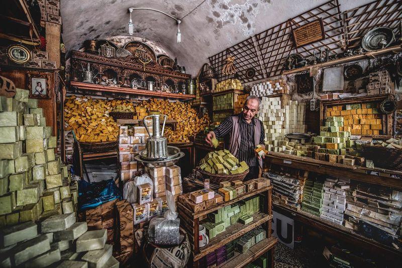 Full frame shot of food in market
