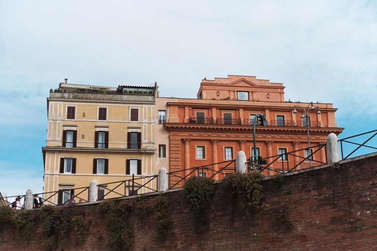 Moving Around Rome Rome Architecture Building Exterior City Colorful Houses House Italy