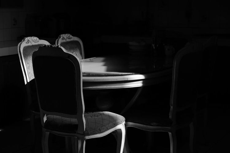 Empty chairs at home