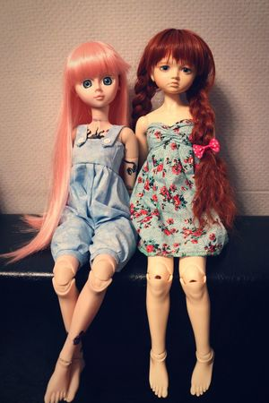 My girls ? Girls Dolls Relaxing Taking Photos Sewing By Hand Hi! Hello World Friends ❤ Hanging Out By Ctrayfi