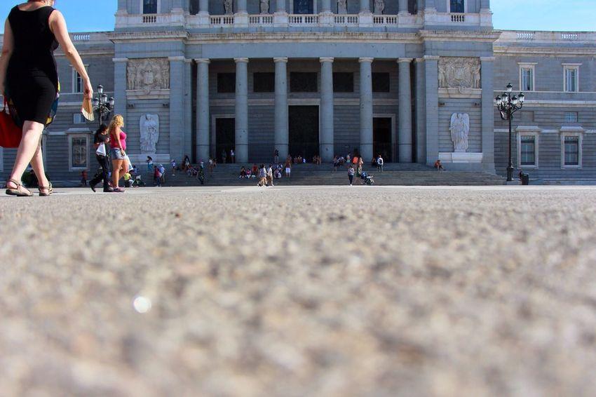 Madrid Royal Palace Low Angle Taking Photos at Madrid,spain