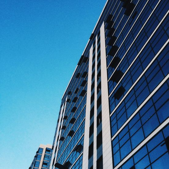 Architecture Clear Sky Building Exterior Built Structure Blue Window City Office Building Outdoors Modern No People