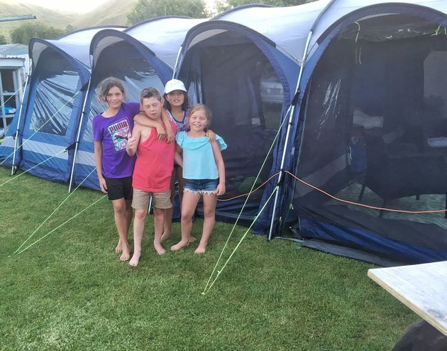 My kids with there cousins ❤️ Family Time Grass Tent Summer Camping Girls Child Full Length Family Childhood Togetherness