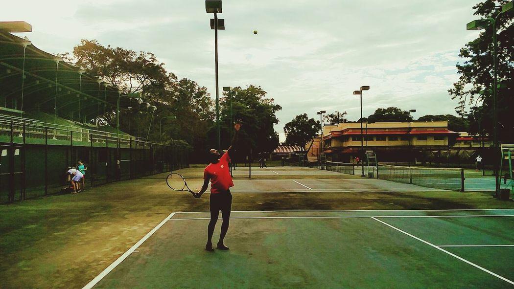 Tennis Sport Tennis Trinidad And Tobago Trinidad Court Serve