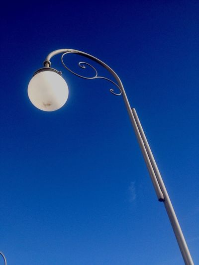 Urban Geometry Urban Blue Sky Blue Lamp Ortona Beautiful Day Sky Sky Collection