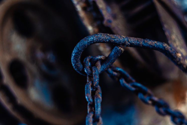 chain Blue Cable Chain Chains Close-up Communication Connection Day Focus On Foreground Indoors  Marine Metal Nature No People Old Rope Rusty Selective Focus Strength Technology Water