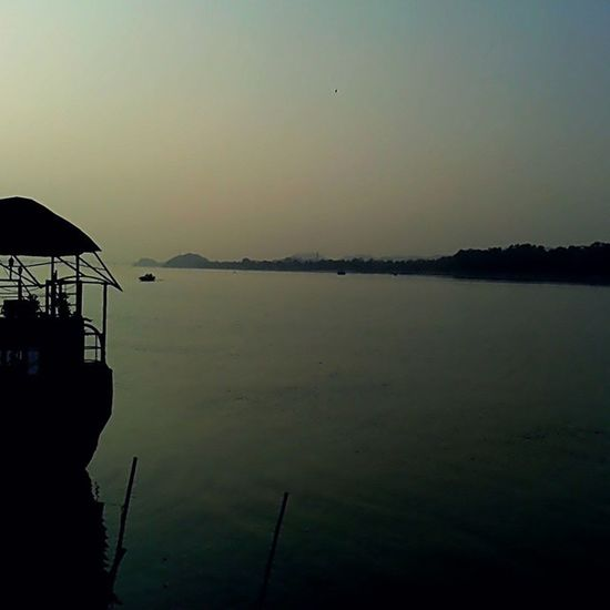 Cool evening on the bank of mighty brahmaputra Evening Intamood Friends Mesmering