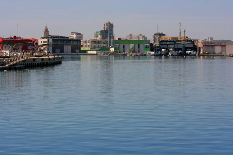 This is Valencian harbour of American Cup World Race which Valencia is very proud of. Bay Docks Dockside Dockside View Mediterranean Sea Sea And Sky Sea View Seaside Urban Harbour Waterfront Calm Water Calm Sea Blue Wave