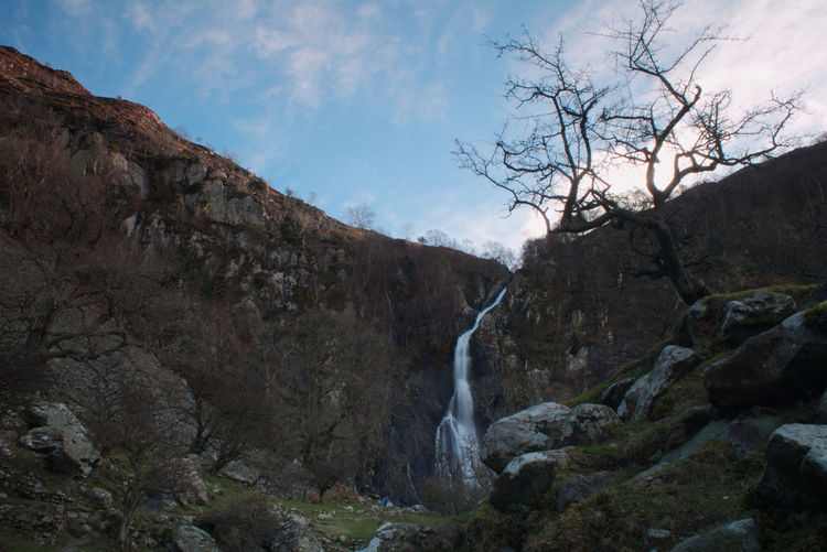 Wales Tree Water Waterfall Mountain Forest Tree Area Springtime River Hiking Pinaceae Flowing Water Flowing Long Exposure Falling Water Power In Nature