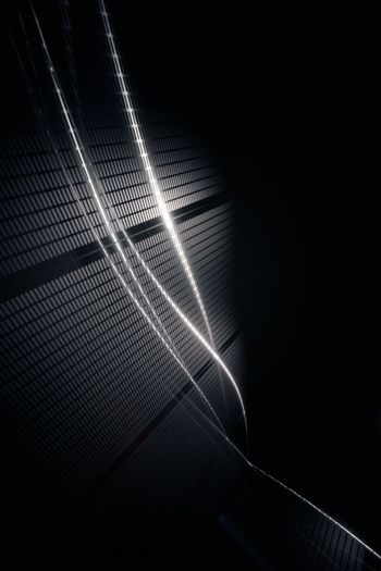 Low angle view of light painting at night