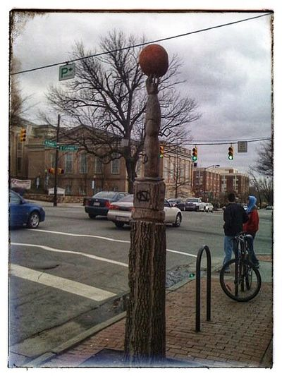 Live, Breath, And Die By Basketball At UNC National Champions Tree Carved Into Basketball At UNC Chapel Hill Dead Tree Car Bicycle Mode Of Transport Transportation Street Tree City Street Basketball - Sport Day