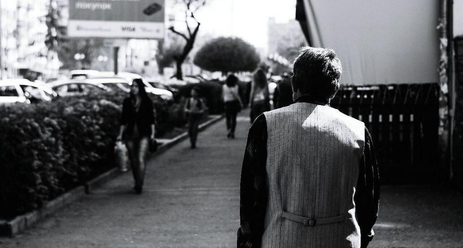 Streetphotography Blackandwhite Man Interesting Light And Shadow