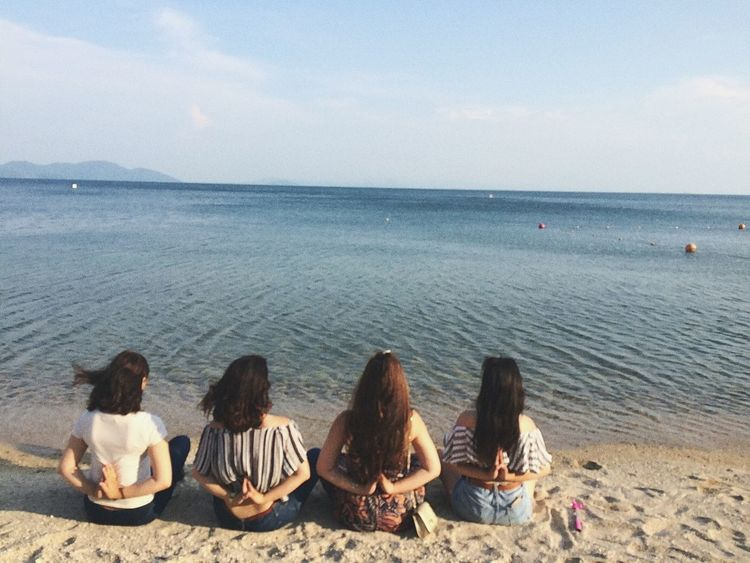 Beach Sea Summer Vacations Beauty In Nature People Women