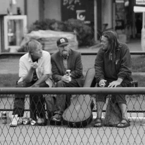 Talking 2 two City Sitting Full Length Group Of People Smoking Bus Stop Addiction Unhealthy Living Drug Abuse Bad Habit Tobacco Product