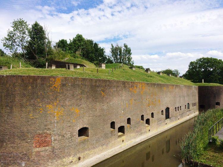 Dutch fort in Bunnik, Utrecht. Fort Vechten Cloud - Sky Tree Outdoors No People Nature First Eyeem Photo