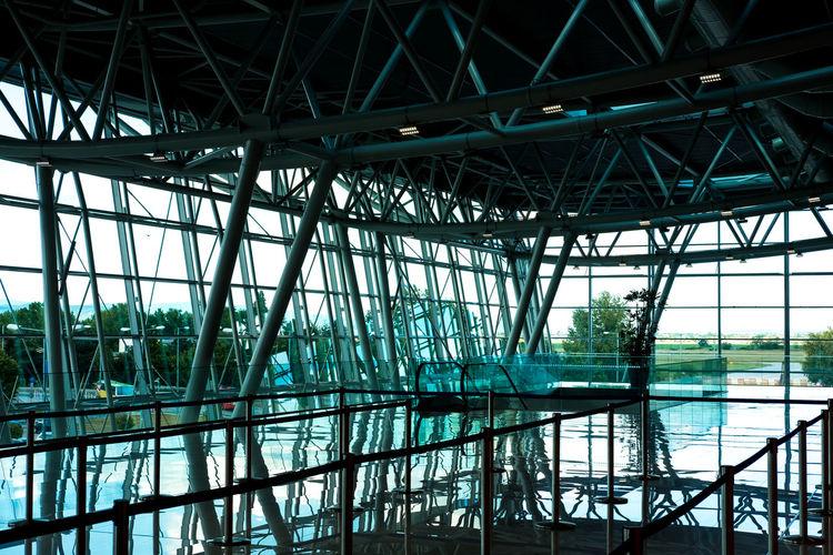 Complex interior design of building structure