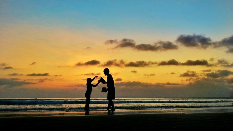 My Dady My Hero Beach Sunset Child People Sea Sand Childhood Family With One Child Boys Adult Nature Silhouette Outdoors Water Sky Sport Humaninterest