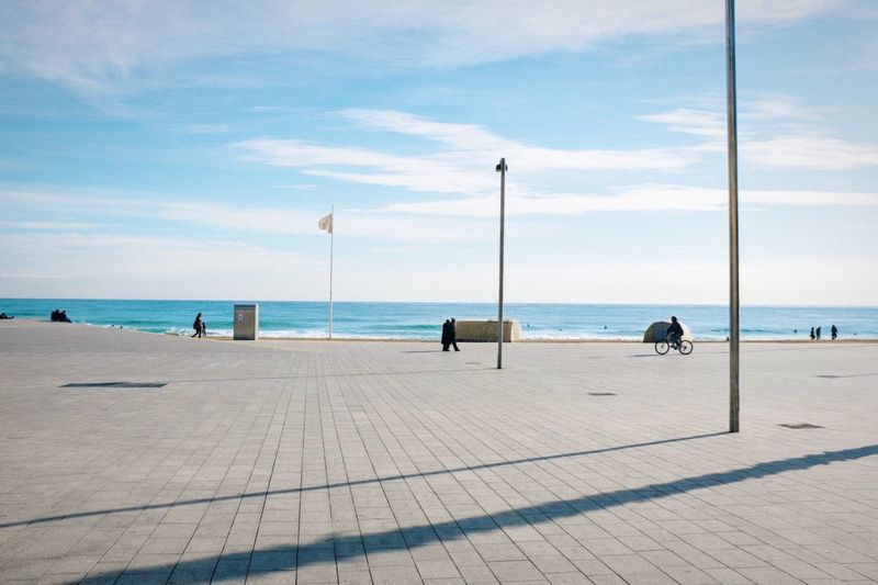 Winter sea | Priimephoto Priime FUJIFILM X100S X100S Fuji X100s Beach Sea Winter Barcelona Barceloneta