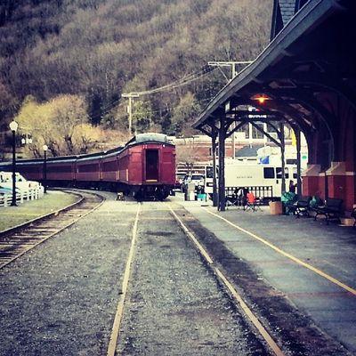 Lehigh Gorge Scenic Railway Train Thanks  Mauchchunk Trainstation scenic mountpisgah poconos spring Lehighriver