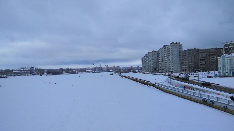 Water Nature Sky Day Beauty In Nature Nice Week Cherepovets Winter Street City Nature River Russian Nature Russia Snow Snow ❄ Snow River Eye Em Nature Lover Beatiful Nature